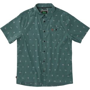 Hippy Tree Motif Woven Shirt - Men's