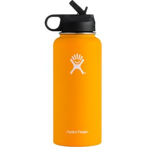 Hydro Flask 32oz Wide Mouth Water Bottle with Straw Lid
