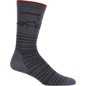 Icebreaker Lifestyle Fine Gauge Ultra Light Crew Sock - Men's