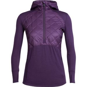 Icebreaker Ellipse 1/2-Zip Hooded Pullover - Women's