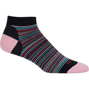 Icebreaker Lifestyle UltraLight Low Cut Multi-Mini Stripe Sock - Women's