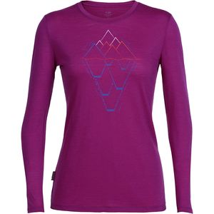 Icebreaker Tech Lite Steep To Deep Crew - Long-Sleeve - Women's