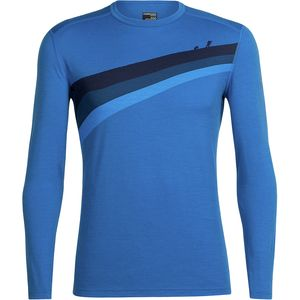 Icebreaker Oasis Long-Sleeve Crewe Ascent Stripe Shirt - Men's