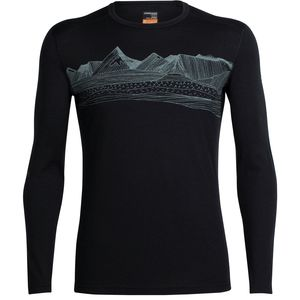 Icebreaker Oasis Long-Sleeve Crewe Pyrenees Shirt - Men's