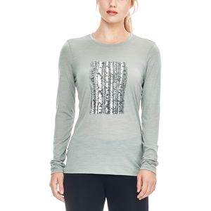 Icebreaker Tech Lite Snow Birch Crew - Women's