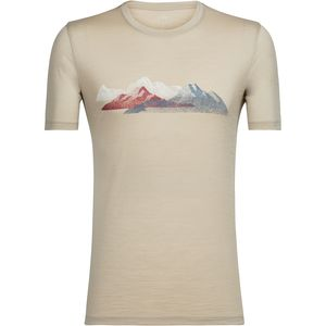 Icebreaker Tech Lite Misty Peaks Short-Sleeve Crewe - Men's