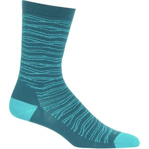 Icebreaker Lifestyle Fine Gauge Ultra Light Crew Pattern Sock