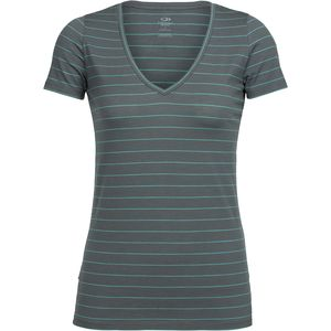Icebreaker Tech Lite Short-Sleeve V-Neck Shirt - Women's