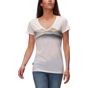 Icebreaker Tech Lite Short-Sleeve V Misty Horizon Shirt - Women's