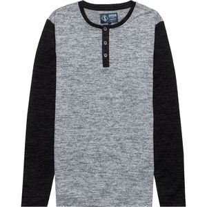 Indigo Star Raticate Colorblock Henley Sweater - Men's
