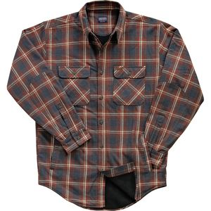 Smith's Fleece Lined Plaid Flannel Shirt Jacket - Men's