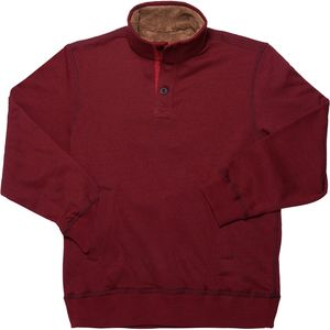Smith's Faux Sherpa Lined Fleece Pullover Sweater - Men's