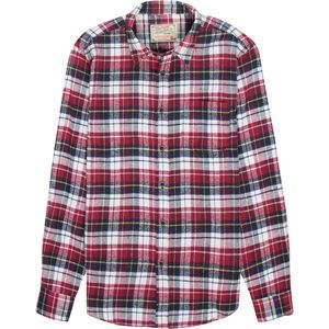 JACHS Red and Navy Plaid Flannel - Men's