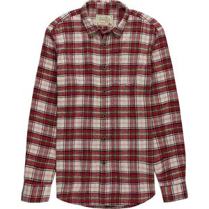 JACHS Deep Red Plaid Flannel - Men's