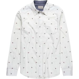JACHS Skiiers Printed Long Sleeve Button-Down Shirt - Men's