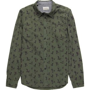 JACHS Duck Printed Long Sleeve Button-Down Shirt - Men's