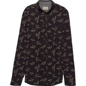 JACHS Birds Printed Long Sleeve Button-Down Shirt - Men's