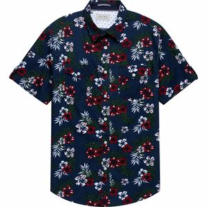 JACHS Floral Short-Sleeve Shirt - Men's