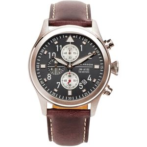 Jack Mason A102 Aviation Collection Leather Watch