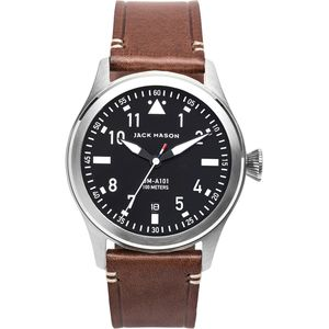 Jack Mason A101 Aviation Collection Leather Watch