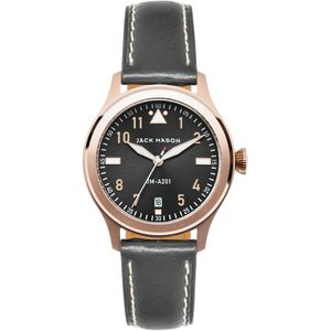 Jack Mason A201 Aviation Collection Leather Watch - Women's