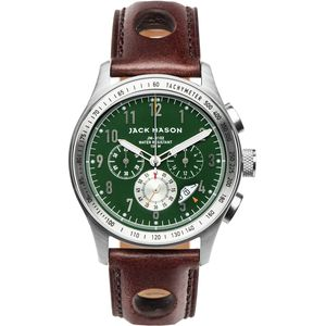 Jack Mason R102 Racing Collection Stainless Steel Leather Watch