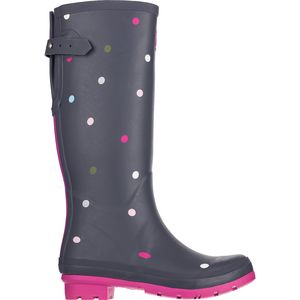Joules Printed Adjustable Back Gusset Welly - Women's
