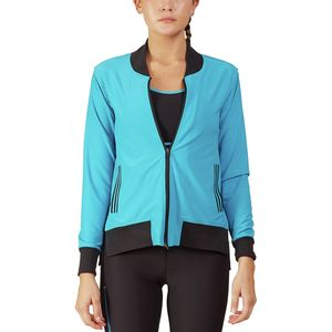 Ki Pro NYC Varsity Stripe Performance Bomber - Women's