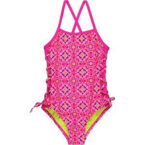 Limited Too Pattern One-Piece Swimsuit with Tie - Girls'
