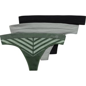 Layer 8 Seamless Thong Underwear - 3-Pack - Women's