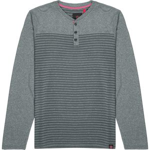 Mountain and Isles Striped Heather & Solid Long-Sleeve Henley - Men's