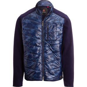 Mountain and Isles Mixed Media Hybrid Fleece Jacket - Men's