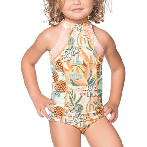 Maaji Hello Cactus One-Piece Swimsuit - Girls'