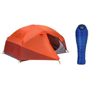 Marmot Limelight 2P Tent + Sawtooth 15 Sleeping Bag Bundle