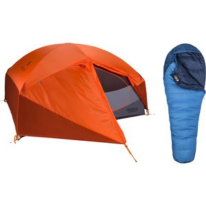 Marmot Limelight 3P Tent + Trestles 15 Sleeping Bag Bundle