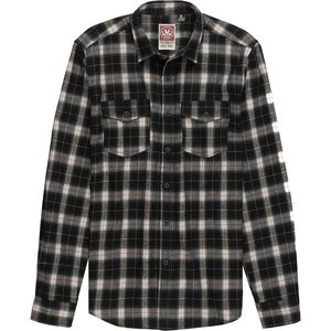 Micros Over Plaid Flannel Button-Down Shirt - Men's