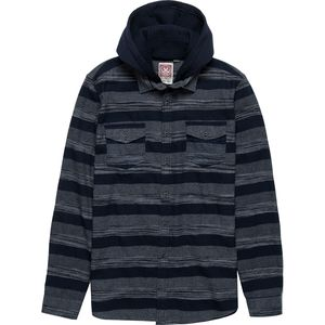 Micros Rattata Stripe Hooded Flannel Shirt - Men's