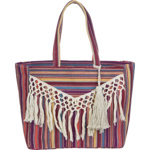 Magid Canvas Stripe Tassle Bag