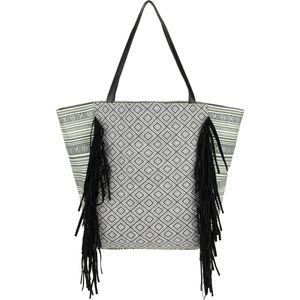 Magid Canvas Fringe Tote