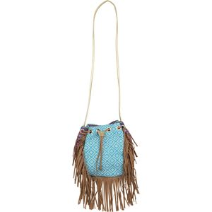 Magid Canvas Drawstring Fringe Bag - Women's