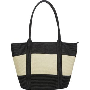 Magid Straw Wide Stripe Tote