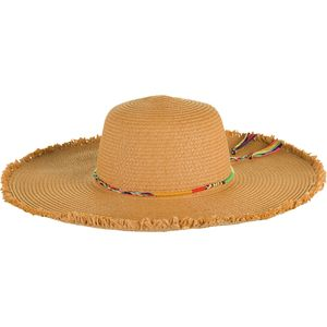Magid Raw Edge Braided Tassle Rope Band Hat - Women's