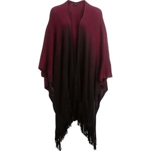 Magid Ombre Ruana with Fringe Scarf - Women's