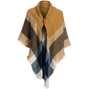 Magid Large Open Plaid Blanket Wrap - Women's