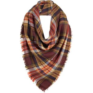 Magid Plaid Blanket Wrap Scarf - Women's