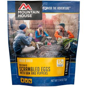 Mountain House Scrambled Eggs with Ham & Peppers - Breakfast Entree