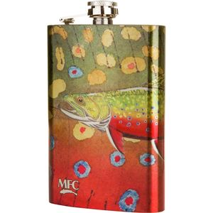 Montana Fly Company Brook Trout Flask - Jeff Currier