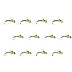 Montana Fly Company Silverman's Bh  Epoxy Back Red Tag Sally - 12 Pack