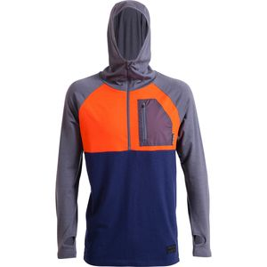 Mons Royale Motatapu Hooded 1/2-Zip Top - Men's