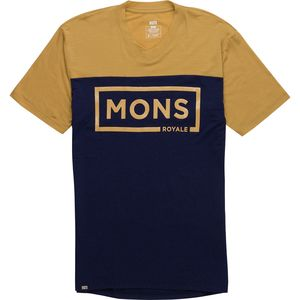 Mons Royale Redwood V-Neck Short-Sleeve Shirt - Men's